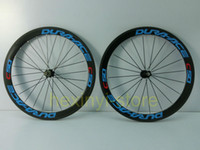 Road Bikes Carbon 12 Inch 1pair blue DURA-ACE C50 700C (50mm) clincher rim 3K full carbon bicycle wheelset Road carbon bike wheelset+spokes+hubs Free ship