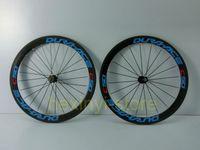 Road Bikes Carbon 12 Inch 1Pair blue DURA-ACE C50 700C (50mm) Road bicycle carbon wheelset tubular rim 3K full carbon bike wheelset +spokes+hubs Free ship