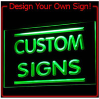 Wholesale 7 Colors to Chooose Custom Signs Neon Signs led signs Design your own light with your Logo Text