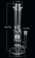 Wholesale YQ two function glass water pipe with honeycomb disk and birdcage perc