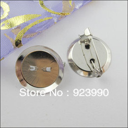 Wholesale Dull Silver Plt Round Brooch Backs Bar Pins Circle Connector Clasp mm For Jewelry Making Craft DIY