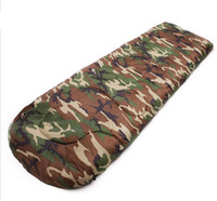 Wholesale 1pcs Waterproof Camouflage Easy to carry Single Warm Adult Sleeping Bag Outdoor Sports Camping Hiking E599