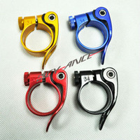 Wholesale New aluminum alloy Bicycle clamp bike quick release Bike seat clamp bicycle part mm use for mm seatpost