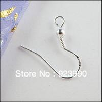 Wholesale MM Making DIY jewelry findings silver hook earrings sterling silver French Ball hooks earrings Silver