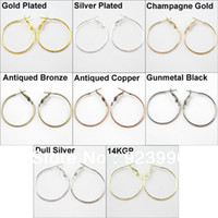 Fashion basketball crafts - Jewelry Circle Basketball Wives Hoops Earrings Gold Silver Champagne mm For Jewelry Making Craft DIY
