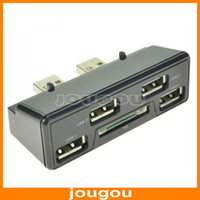 For PS3 1419200000  Brand New 4 Ports USB Hub 2.0 With SD Card Reader Slot Adapter For SONY Playstation 3 PS3 Slim Free Shipping