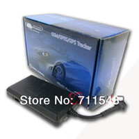 GPS Tracker software retail wholesale - 5pcs GPS Tracking Device Quad Band Real Time Vehicle GPS Tracker Free Monitor Software GT02A TK08 w Retail Box