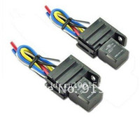 Switches amp kits for cars - 2PCS Car A AMP V Relay Kit For Electric Fan Fuel Pump Light Horn Pin Wire