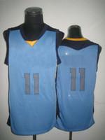 Wholesale Top Quality Swingman Basketball Jerseys Memphis Mike Conley Light Blue Embroidery Logo Mix Order