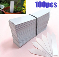 Nursery Pots - 100PCS quot White Plastic Plant Seed Labels Pot Marker Nursery Garden Stake Tags