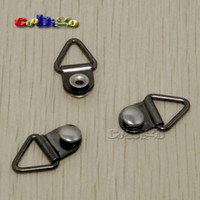 Tag Metal Yes 100 pcs Pack Strong Triangle D-Ring With Double Rivet For Craft Bag Shoes Work Army Hiking Boots Lace #FLQ091-B