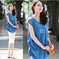 Chiffon Regular Sleeveless blouse Free shipping summer women's patchwork medium large female chiffon big size XS-XXL