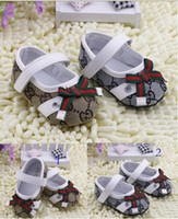 china shoes children - Hot toddler shoes Soft soled baby shoes casual children shoes Velcro newborns shoes bows China kids shoes girl single shoes pairs CZ