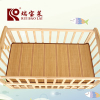 Wholesale New arrival baby bed bamboo mat can lower the temperature naturally best match with mosquito net Double side mat mattress