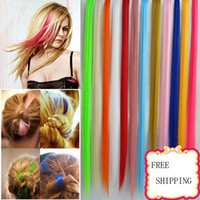 Wholesale wigs and hairpieces Women Lady Hairpieces Hair Highlight False hairs Extension Clip In
