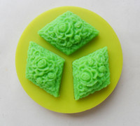 Wholesale 1PCS Diamond shape Chocolate Candy Jello D Mold Mould Cartoon Figre cake tools Soap Mold Sugarcraft Cake Decoration
