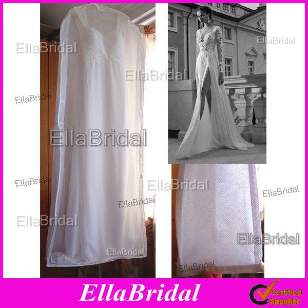 New white no logo cheap see through bridal wedding dress for Wedding dress travel case