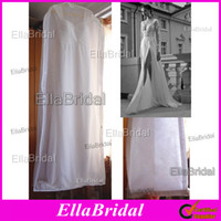 wedding dress garment bag - New White No Logo Cheap See Through Wedding Dress Gown Bag Garment Cover Travel Storage Dust Covers Bridal Accessories