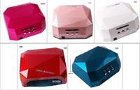 Wholesale 5 Color W UV LED Gel Nail Lamp Gel Curing Tube Light Nail Art Polish Dryer Machine V V ZHIJIADENG002