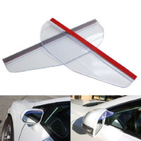 Wholesale Flexible PVC Car Rearview Mirror Rain Shade Rainproof Blades Black Transparent
