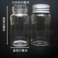 Bamboo 50ml 37 * 70 aluminum cover Lucky Star / bottle Special 50ml glass bottle sealed transparent aluminum cover 3770 trumpet tuba birthday gift ideas Wishing bottle bottle