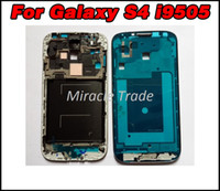 Wholesale For Samsung Galaxy S4 i9505 LCD Faceplates Front Frame Plate Housing Cover Bezel Chassis Cases Repair Parts