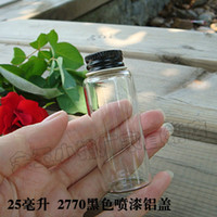 Bamboo ECO Friendly Taiwan Code 2770 new special transparent black aluminum lid sealed glass vials wholesale bottle cork creative incense fans