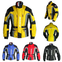 Wholesale DUHAN Men s Motor Oxford Jacket Motorcycle Jacket Racing Jacket Motocross jacket long jacket with pieces protector Yellow