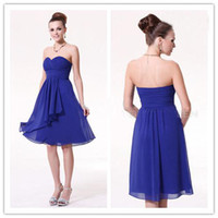 Wholesale NEW Junior Bridesmaid Dresses Bridesmaid Party Evening Cocktail colors Chiffon Strapless A Line Knee Length Dresses