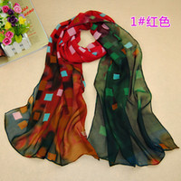 Wholesale 2014 New Dream squares print silk scarves Fashion long towel sunproof soft women scarf shawl swimsuit beach towels
