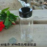 Bamboo ECO Friendly Taiwan Code 3790 new special transparent black aluminum lid sealed glass vials wholesale bottle cork creative incense fans