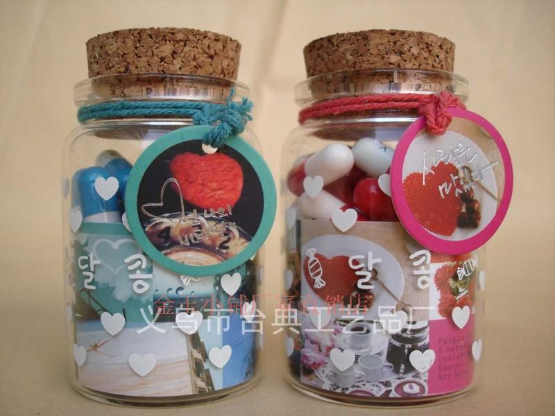 2221 korean manufacturers special love pills transparent for Glass bottle gift ideas