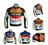 Wholesale High quality DUHAN REPSOL PU men s motorcycle jacket motorcycle racing jacket PU leather motorcycle