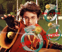 Wholesale Freeshipping a Harry Potter The Quidditch Golden Snitch Ring HLJFZ02