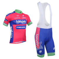 Wholesale 2013 LAMPRE Team Cycling Jersey Cycling Wear Cycling Clothing shorts bib suit LAMPRE B
