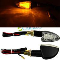 Wholesale 2PCS New x Motorcycle LED Turn Signal Indicators Lights Amber yellow TK0126