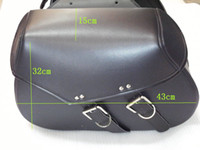 Wholesale xpcs Motorcycle Sportbike Touring Expandable Saddlebags Saddle bags Travel Luggage Left and Right Fits Harley Black Free Shipp