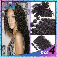 30g Ombre Color Brazilian Hair W4 Malaysian Virgin Hair Deep Wave Curly Kinky Curly 4pcs Lot Human Hair Weave Curly Guangzhou Ali Queen Ms Lula Luvin Luxy Hair