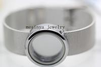 Wholesale 10pcs mm width L stainless steel belt floating charms mm glass locket bracelet