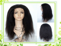Wholesale Brazilian preruvian malaysian virgin remy kinky curly full lace wig inch Natural color for black women