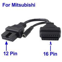 Wholesale Mitsubishi Pin to Pin OBD Diagnostic Adapter Car Cable Mitsubishi PIN OBD1 OBD2 Connector Mitsubishi PIN Quality A