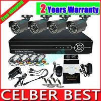 Wholesale Freeshipping CH H Security CCTV TVL Night Vision IR Camera System