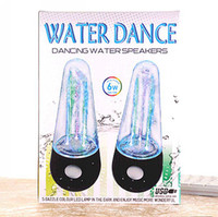 5.1 Universal Computer brand new Dancing Water Speaker Active Mini USB LED Light Fountain Music Player Subwoofer Speakers for Iphone Samsung Mobile Phone MP3 MP4