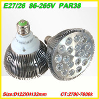 Wholesale drop shipping X Dropship E27 W Par PAR38 LED Bulb Lamp Light V with LEDS Light Warranty years CE amp RoHS free shippin