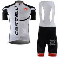 bib shorts road - 2013 Outdoor Sports WHITECASTELLI Road Sportswear Mens Clothing Cycle Wear Skinsuitteam Bike Bicycle Cycling Jerseys Shirt Bibs Shorts Sets