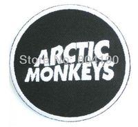 Patches arctic monkeys - ARCTIC MONKEYS Round Logo Music Band Iron On Sew On Patch Tshirt TRANSFER MOTIF APPLIQUE Rock Punk Badge