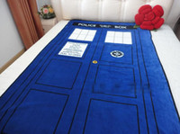 Wholesale 226cm cm Doctor Who Tardis Blanket Cartoon bed sheet funny novelty gift