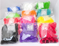 Unisex 5-7 Years Multicolor RAINBOW LOOM RUBBER BAND REFILL WITH 24 S CLIPS 100packs (600pcs  pack) mix colors or single color for your choice
