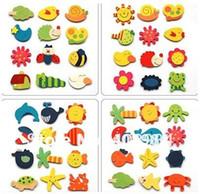 Wholesale Cute animal Wooden fridge magnet Memo Sticker