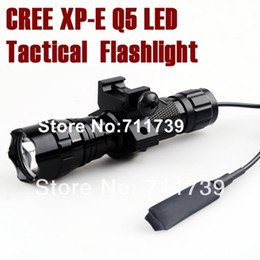 USA EU Hot Sel 501B 5-Mode CREE Q5 LED Torch cree led tactical Flashlight hunting light with Tactical mounts Pressure Switch